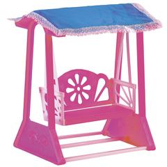 Кукольная мебель для домика качели для кукол до 30 см, цвет: розовый