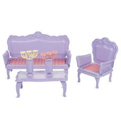 Кукольная мебель для домика диван, кресло и журнальный столик