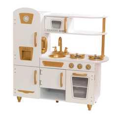 Кухня игровая Винтаж, цвет: белый с золотом
