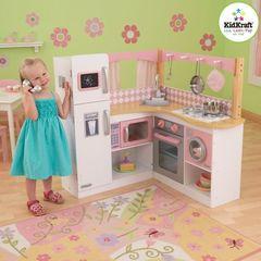 """Большая детская кухня из дерева для девочек """"Изысканный уголок"""" (Grand Gourmet Corner Kitchen)"""